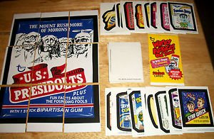 2014 WACKY PACKAGES OLD SCHOOL SERIES 5 COMPLETE DIE-CUT SET + PUZZLE & WRAPPER!