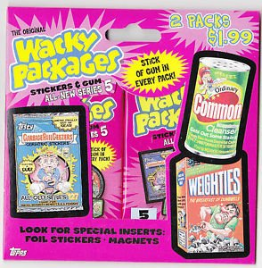 2006 WACKY PACKAGES PACKAGE OF TWO ALL NEW SERIES 5 (ANS5) SEALED PACKS. RARE