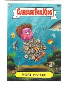 """2005 GARBAGE PAIL KIDS ALL NEW SERIES 4 {ANS4} """"NOEL ESCAPE"""" #18b STICKER CARD"""