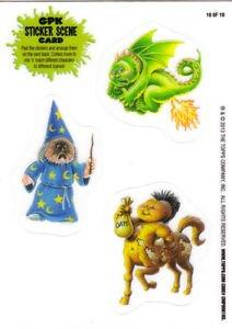 2013 GARBAGE PAIL KIDS BRAND NEW SERIES 3 {BNS3}  STICKER SCENE CARD #10 INSERT