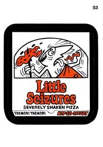 "2013 WACKY PACKAGES ALL NEW SERIES 11 {ANS11} ""LITTLE SEIZURES"" #53 STICKER CARD"