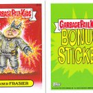 "2013 GARBAGE PAIL KIDS BRAND NEW SERIES 2 (BNS2) BONUS CARD ""TASER FRASIER"" B14a"