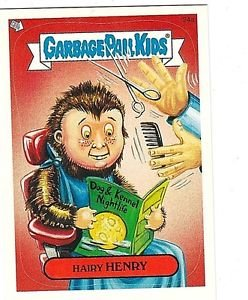 """2004 GARBAGE PAIL KIDS ALL NEW SERIES 2 {ANS2} """"HAIRY HENRY"""" #24a STICKER CARD"""
