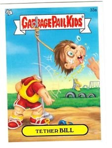 """2006 GARBAGE PAIL KIDS ALL NEW SERIES 5 {ANS5} """"TETHER BILL"""" #33a STICKER CARD"""