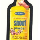 "1986 WACKY PACKAGES ALBUM SERIES STICKER ""SNOOT POWDER"" #52 ONLY 99 CENTS"