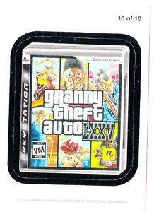 2013 WACKY PACKAGES ANS10 **GRANNY THEFT AUTO** #10  MAGNET