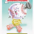 "2015 GARBAGE PAIL KIDS SERIES 1  ""SCREWBALL SAUL"" #9 MASCOT STICKER INSERT"