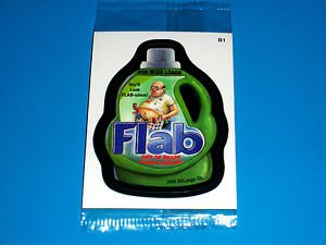 """2012 WACKY PACKAGES ALL NEW SERIES 9 {ANS9} BONUS CARD """"FLAB""""  B1 IN CELLOPHANE"""