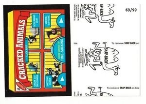 """2017 Wacky Packages 50th Anniversary BLACK LUDLOW """"CRACKED ANIMALS"""" 69/99"""