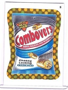 """2010 WACKY PACKAGES ALL NEW SERIES 9 {ANS9} GOLD BORDER """"COMBOVERS"""" #9 RARE!"""