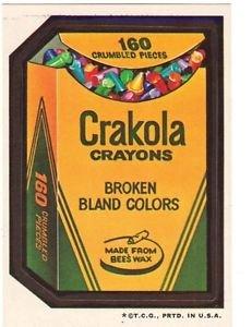 "1974 WACKY PACKAGES WONDER BREAD 2nd SERIES ""CRAKOLA CRAYONS"" STICKER"