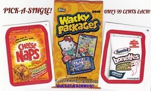 2015 WACKY PACKAGES SERIES 1 RED BORDER STICKERS *PICK-A-SINGLE* #'S 1-55 NM