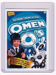 """2012 CEREAL KILLERS 1ST SERIES """"OMEN O'S"""" #42 STICKER-ONLY 99 CENTS"""