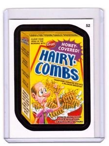 "2014 WACKY PACKAGES SERIES 1 ""HAIRY COMBS"" #52 STICKER!!"