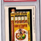 "1975 WACKY PACKAGES 12TH SERIES ""HAV-A-TEMPER CIGARS"" PSA GRADED 7 NM RARE"