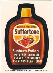 "1974 WACKY PACKAGES ORIGINAL 8TH SERIES ""SUFFERTONE"" STICKER"