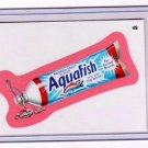 "2011 WACKY PACKAGES ALL NEW SERIES 8 {ANS8} PINK BORDER CARD ""AQUAFISH"" #49"