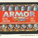 "1979 WACKY PACKAGES 1ST SERIES ""ARMOR HOT DOGS"" #36 STICKER CARD"