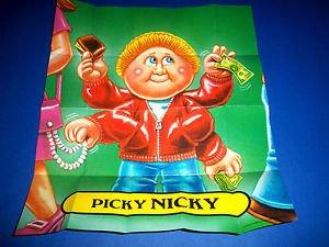 "2012 GARBAGE PAIL KIDS Brand New Series 1 ""PICKY NICKY'' POSTER"