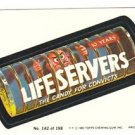 "1980 WACKY PACKAGES 3RD SERIES ""LIFE SERVERS"" #142 STICKER CARD"