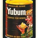 "1974 WACKY PACKAGES ORIGINAL 8TH SERIES ""YUBUM COFFEE"" STICKER CARD"
