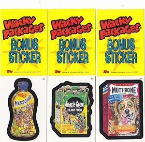 2006 WACKY PACKAGES ALL NEW SERIES 3 (ANS3) **THREE BONUS STICKERS** B4,B5,B6