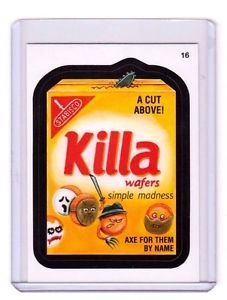 """2015 WACKY PACKAGES SERIES 1 """"KILLA WAFERS"""" #16 STICKER! NM"""