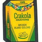 "TOPPS WACKY PACKAGES 1986 SERIES ALBUM STICKER ""CRAKOLA"" #72 ONLY 99 CENTS"
