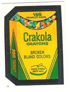 """TOPPS WACKY PACKAGES 1986 SERIES ALBUM STICKER """"CRAKOLA"""" #72 ONLY 99 CENTS"""