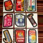 """2005 WACKY PACKAGES ALL NEW SERIES 3{ANS3} COMPLETE """"MAGNET"""" SET 9/9 + 1 WRAPPER"""