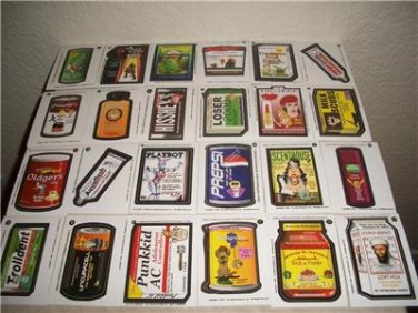 2003 SILLY SUPERMARKET 1ST SERIES COMPLETE STICKER SET LIKE WACKY PACKAGES.