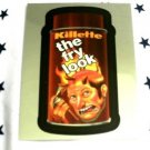 "WACKY PACKAGES CHROME SERIES 1 ""KILLETTE"" #13 CUTTING ROOM FLOOR INSERT CARD"