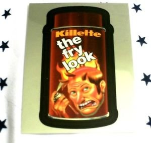 """WACKY PACKAGES CHROME SERIES 1 """"KILLETTE"""" #13 CUTTING ROOM FLOOR INSERT CARD"""