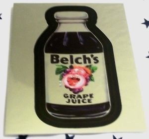 "WACKY PACKAGES CHROME SERIES 1 ""BELCH'S"" #1 CUTTING ROOM FLOOR INSERT"