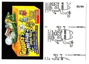 """2017 Wacky Packages 50th Anniversary BLACK LUDLOW """"GROSSERY TRASH BAGS"""" 83/99"""