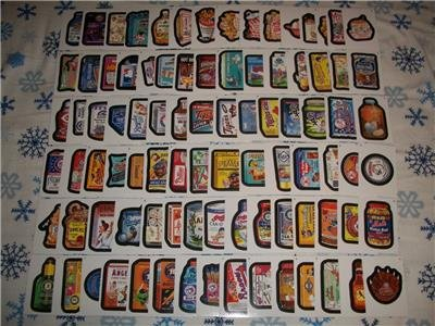 2016 WACKY PACKAGES BASEBALL SERIES 1 COMPLETE 90 STICKER SET +EXCLUSIVE WRAPPER