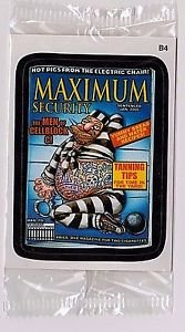 "2011 WACKY PACKAGES ALL NEW SERIES 8 {ANS8} BONUS STICKER ""MAXIMUM SECURITY"" B4"
