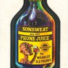 "1974 WACKY PACKAGES ORIGINAL 10TH SERIES ""SUNSWEAT PRUNE JUICE"" STICKER"