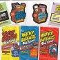 LOT OF WACKY PACKAGES OLD SCHOOL SERIES 1 THRU 3 PACKS + BONUS & PROMO STICKERS