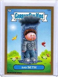 "2013 GARBAGE PAIL KIDS Brand New Series3 (BNS3) GOLD BORDER ""SAD SETH"" #133b"