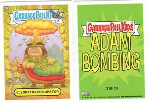 "2014 GARBAGE PAIL KIDS BNS3 ""CLEOPATRA PHILOPATOR"" #2 STICKER-ADAM BOMBING"
