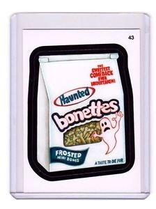 """2015 WACKY PACKAGES SERIES 1 """"BONETTES"""" #43 STICKER! NM"""