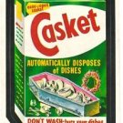 "1974 WACKY PACKAGES ORIGINAL 10TH SERIES ""CASKET SOAP"" STICKER CARD"