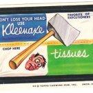 "1974 WACKY PACKAGES ORIGINAL 8TH SERIES ""KLEENAXE TISSUES"" STICKER"