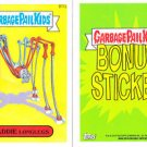 "2014 GARBAGE PAIL KIDS 2ND SERIES BONUS STICKER  ""MADDIE LONGLEGS"" B17a"