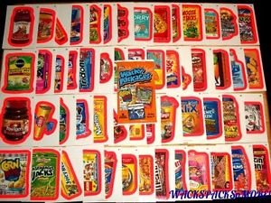"""2012 WACKY PACKAGES ALL NEW SERIES 9 {ANS9} COMPLETE """"PINK BORDER"""" SET 55/55"""