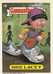 "1988 GARBAGE PAIL KIDS ORIGINAL 15th SERIES ""SHOE LACEY"" #612a NDC NM"