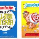 "2015 GARBAGE PAIL KIDS SERIES 1  ""BULL'S IRA"" #4 ALL-STAR STICKER INSERT"