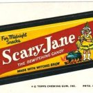 "1974 WACKY PACKAGES ORIGINAL 10TH SERIES ""SCARY JANE"" STICKER CARD"
