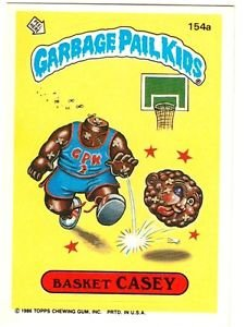"1986 GARBAGE PAIL KIDS ORIGINAL 4TH SERIES ""BASKET CASEY"" #154a STICKER CARD"